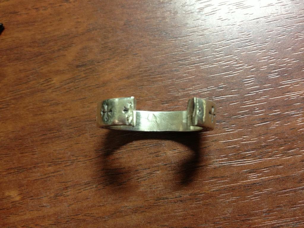 消防署で切断して頂いた指輪
